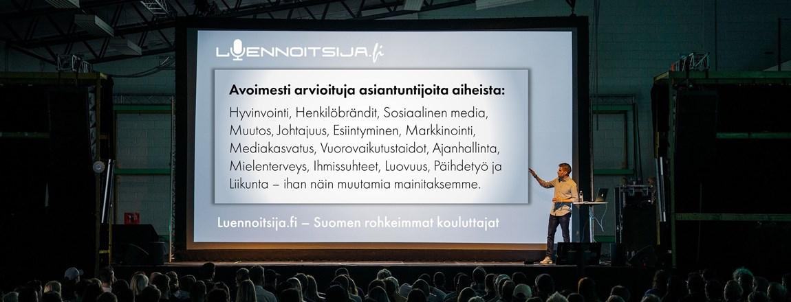 Etsi ja arvioi kouluttajia Luennoitsija.fi palvelussa